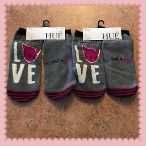 hue all you need is love and a cat 2 pairs socks
